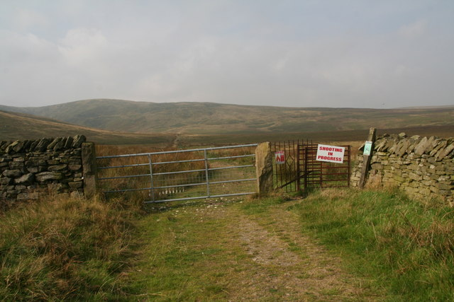 Field gate and old iron kiss-gate across Issues Road