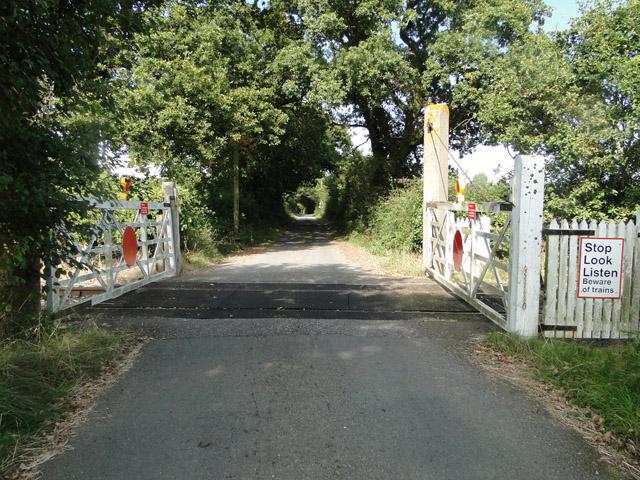 Little used railway crossing