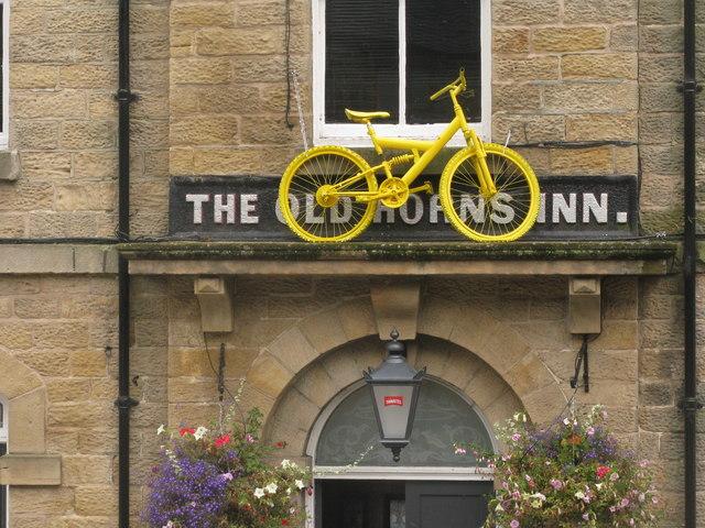 Yellow bike in Bradfield
