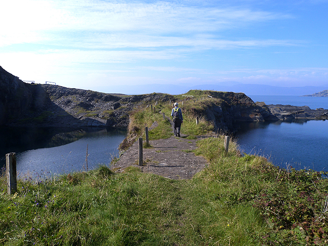 Path between flooded quarries on Easdale Island