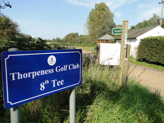 Thorpeness Golf Club - the 8th tee