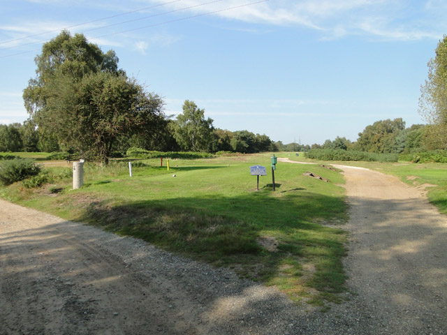 Part of Thorpeness Golf Club from the road