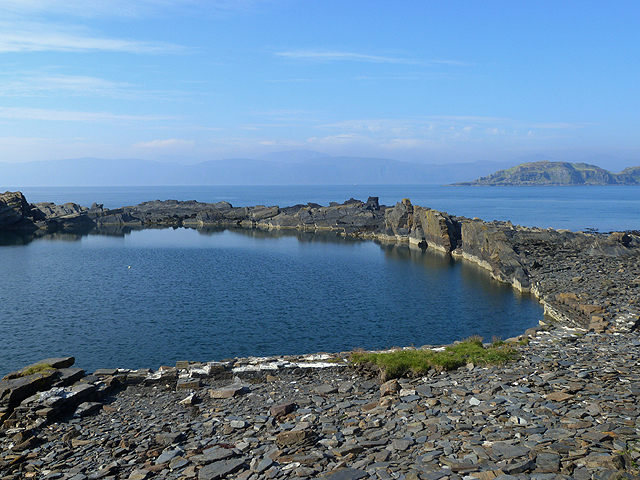 Flooded quarry on Easdale Island