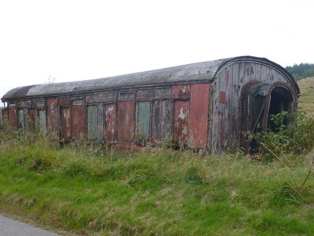 Derelict railway wagon