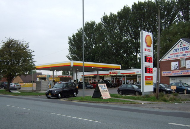 Service station on Childwall Valley Road