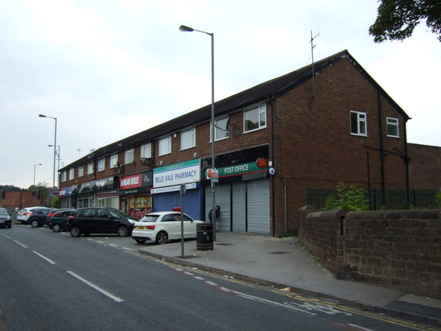 Post Office and shops on Belle Vale Road