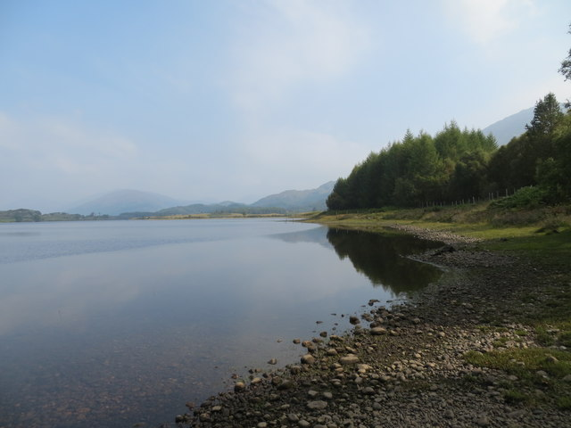 Looking East along the shoreline of Loch Shiel