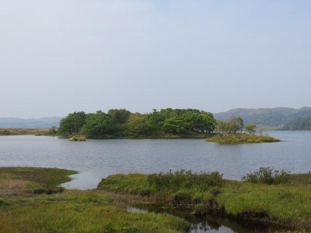 Small islands on Loch Shiel from Rubha Leathan