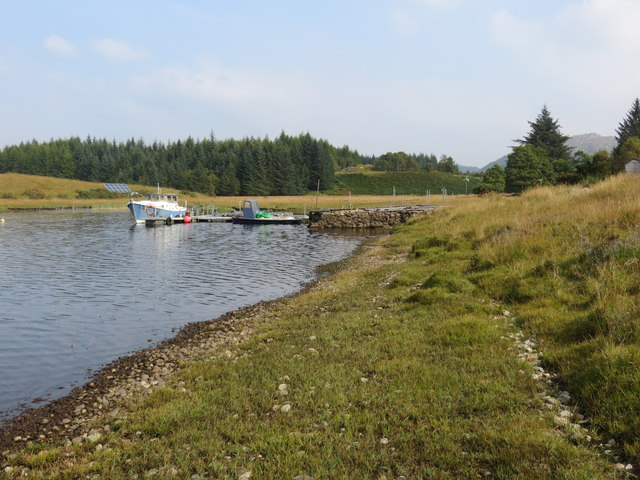 Jetty on Loch Shiel near Achnanellan