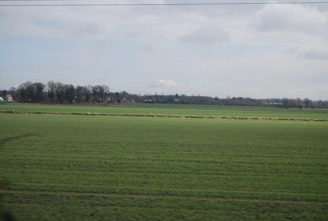 A flat landscape