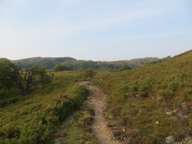 Footpath from the campsite to Beinn Resipol