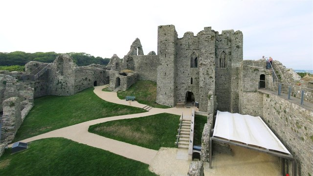Interior of Oystermouth Castle