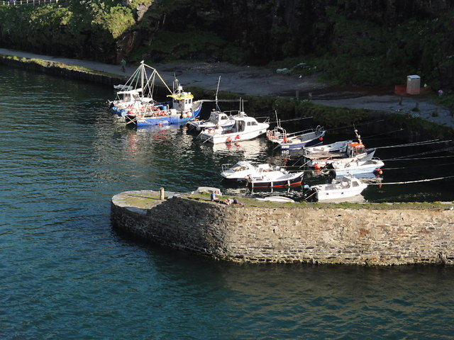 Boats Moored in Boscastle Harbour