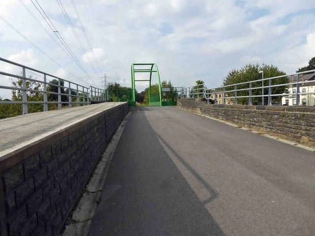 Spen Valley Greenway green bridge