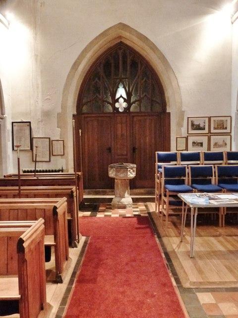 Interior of Fittleworth parish church, West Sussex