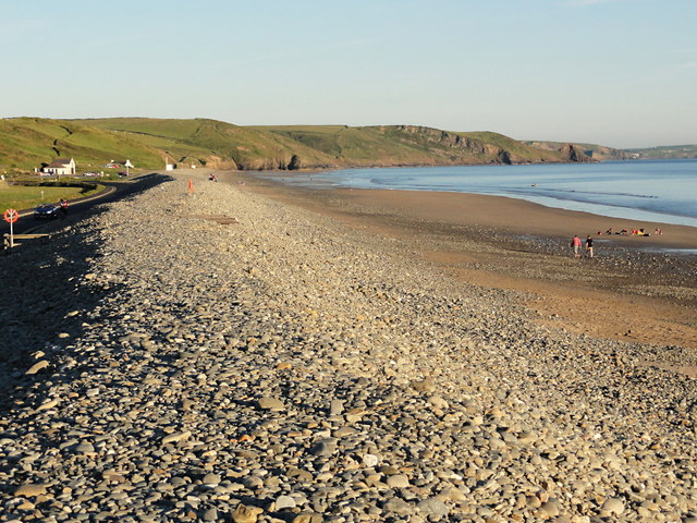 Newgale Beach in the Evening Sunlight