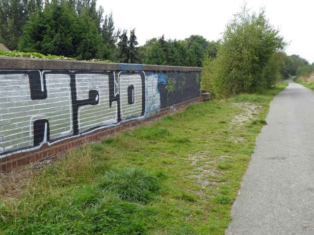 Graffiti on Sustrans route 66