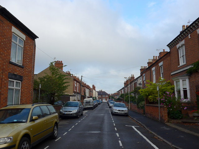 Looking north-west along Cambridge Street