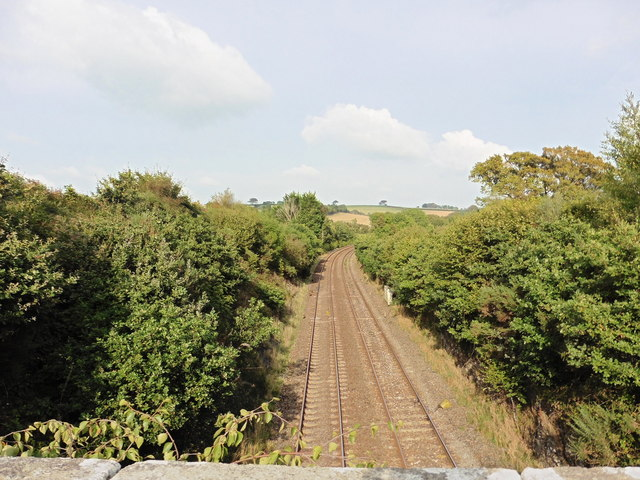 The main railway line from Plymouth to Bristol