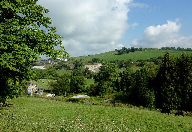 Farmland north of Furness Vale, Derbyshire