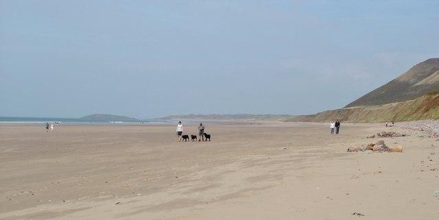 Busy day on Rhossili Beach