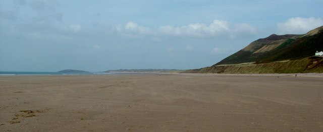 Rhossili Beach below the Old Rectory