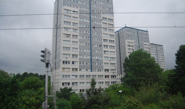 Towerblocks by the East Coast Main Line
