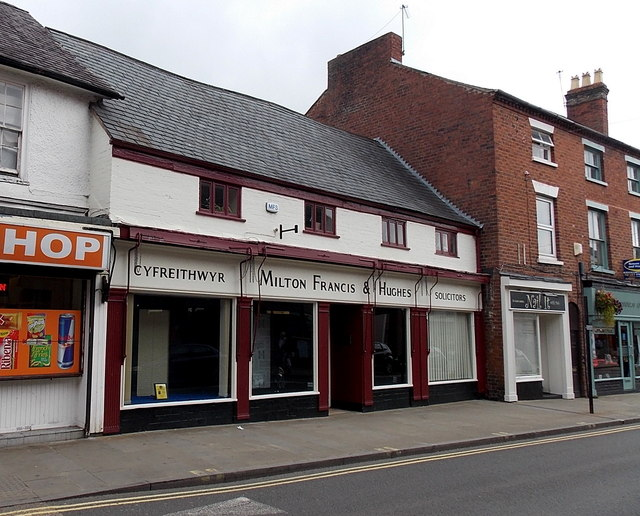 Milton Francis & Hughes solicitors office in Oswestry