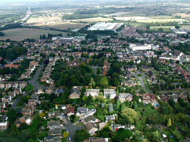 Kegworth from the air