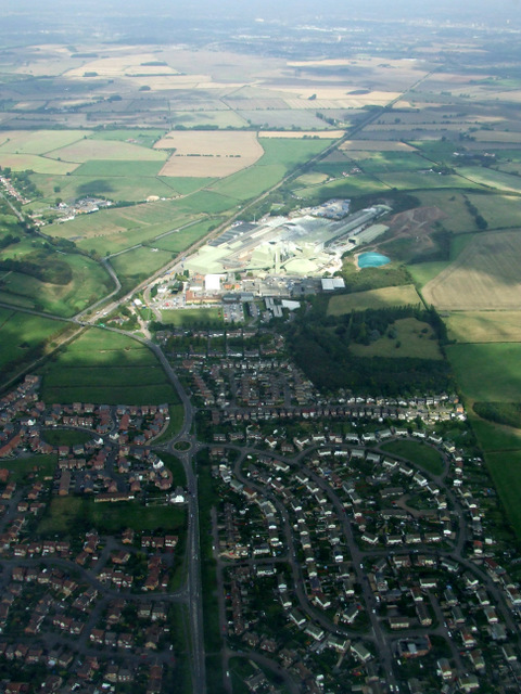 East Leake from the air