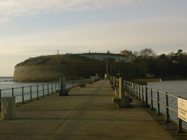 Nothe Fort from South Pier
