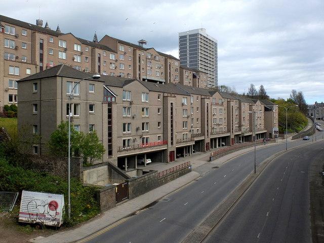Inner-city flats, Virginia Street, Aberdeen...