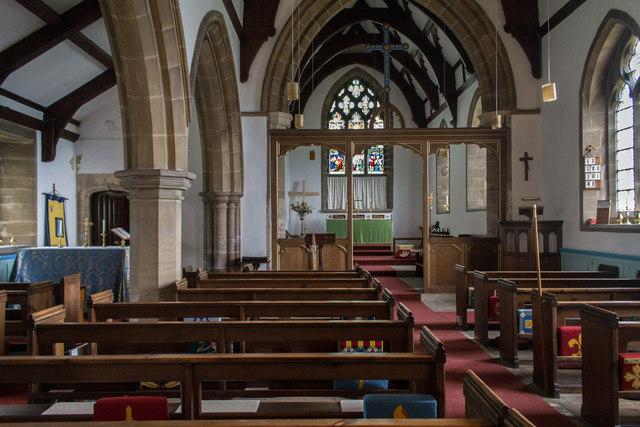 Interior, All Saints' church, Faldingworth