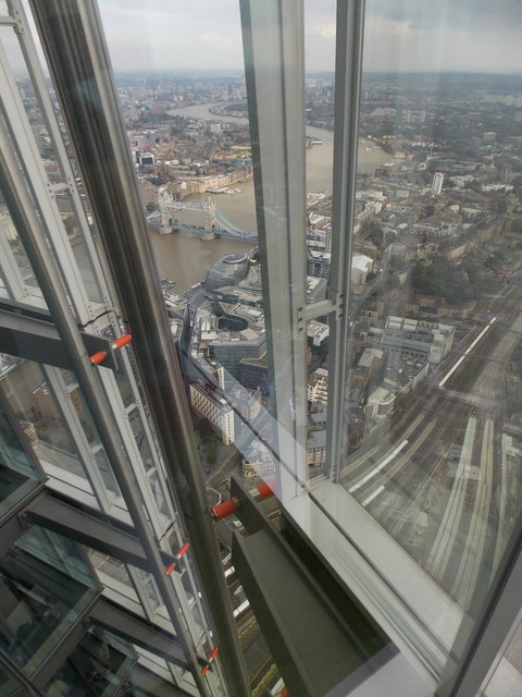 London: looking down the Shard