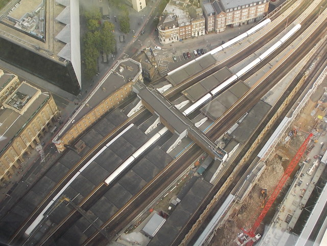 London: London Bridge station from above