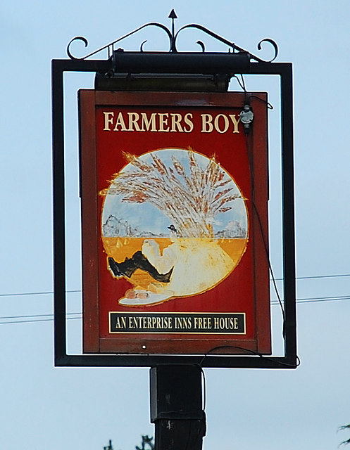 Farmers Boy (2) - sign, Tolladine Road, Tolladine, Worcester