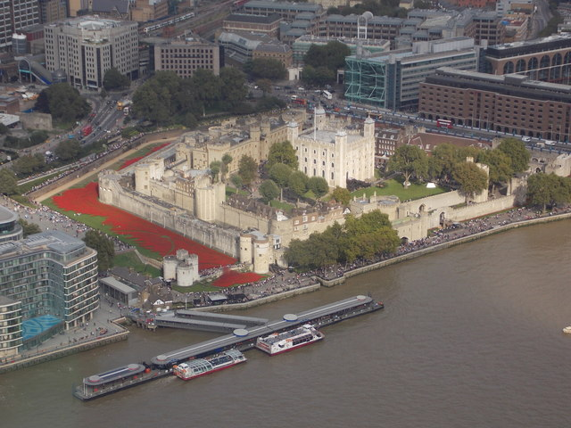 London: the Tower of London from the Shard