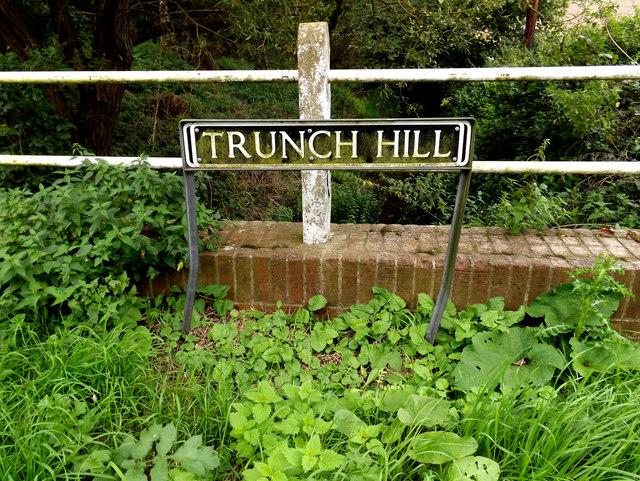 Trunch Hill sign