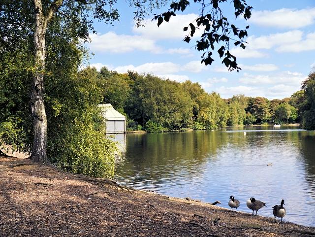 Boat House and Boating Lake at Heaton Park