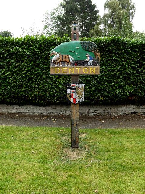 Denton Village sign
