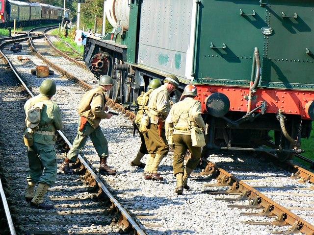 Wartime Weekend 2014 (2), Blunsdon Station