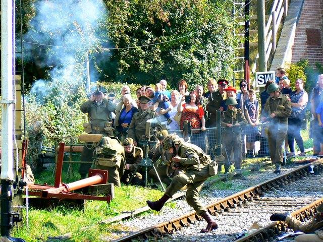 Wartime Weekend 2014 (3), Blunsdon Station