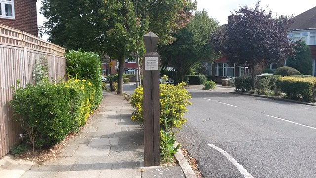 Entrance to Shrewsbury Park Estate Conservation Area
