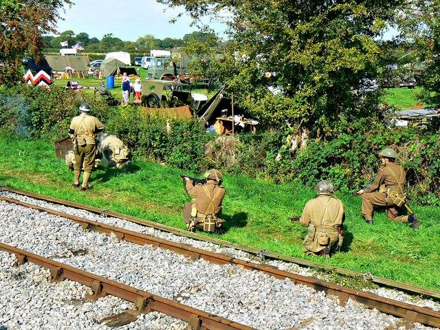 Wartime Weekend 2014 (4), Blunsdon Station