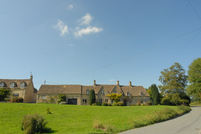 Typical Cotswold cottages at Little Barrington