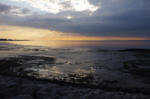 Morecambe evening at low tide
