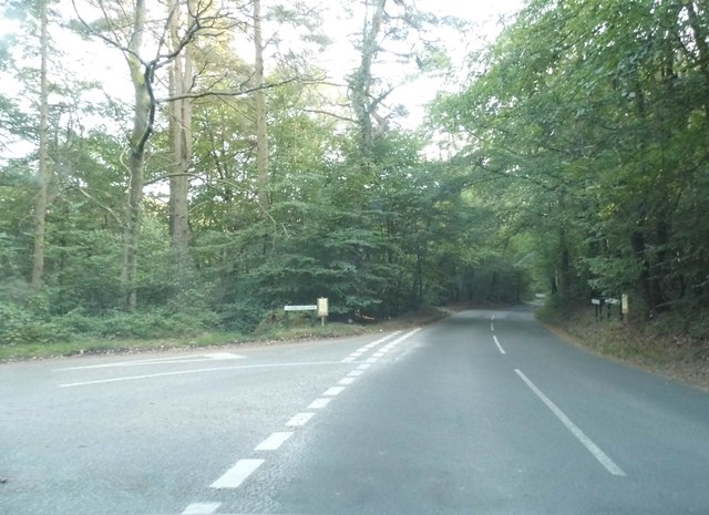 Hound House Road at the junction of Lawbrook Lane