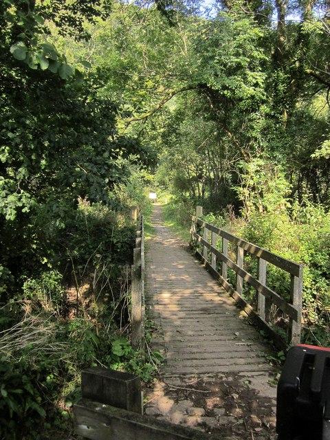 Footbridge across the Seaton