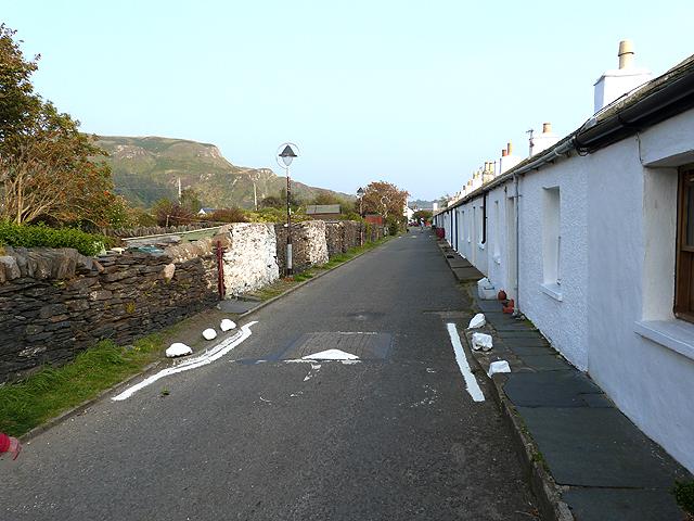 Village street in Ellenabeich