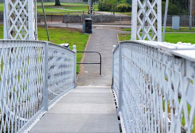 Newly resurfaced footbridge, Peebles